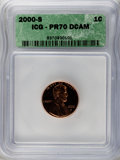 Proof Lincoln Cents: , 2000-S 1C PR70 Deep Cameo ICG. NGC Census: (324). PCGS Population (222). Numismedia Wsl. Price for problem free NGC/PCGS c...