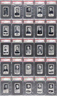 "1912 C57 ""Hockey Series"" Complete Set (50) - #2 on the PSA Set Registry!"