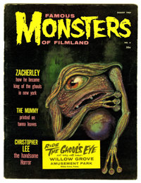 Famous Monsters of Filmland #4 Paste Over Edition (Warren, 1959) Condition: FN