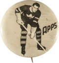 """Hockey Collectibles:Others, 1948 Syl Apps """"Pep Cereal"""" Pinback Button...."""