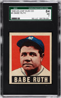 Baseball Cards:Singles (1940-1949), 1948 Leaf Babe Ruth #3 SGC 84 NM 7....