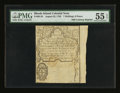 Colonial Notes:Rhode Island, 19th Century Reprint Rhode Island August 22, 1738 7s 6d PMG AboutUncirculated 55 EPQ....