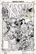 Original Comic Art:Covers, Jim Lee and Scott Williams - X-Men #3 Cover Original Art (Marvel,1991)....