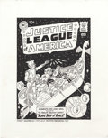 Original Comic Art:Covers, Fred Hembeck - Justice League of America #3 Cover ReinterpretationOriginal Art (1994)....