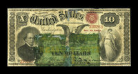 Fr. 190b $10 1864 Compound Interest Treasury Note About Good, Silked