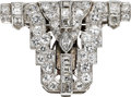 Estate Jewelry:Brooches - Pins, Art Deco Diamond, Platinum Clip. ...