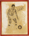 Basketball Collectibles:Photos, Early 1970's Pete Maravich Signed Large Photograph....