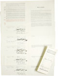 Autographs:Others, 1935 New York Yankees Uniform Player's Contracts Lot of 6, Signed....