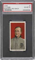 Baseball Cards:Singles (Pre-1930), 1909-11 T206 Old Mill Ty Cobb, Red Portrait PSA EX-MT 6....