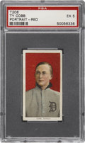 Baseball Cards:Singles (Pre-1930), 1909-11 T206 Old Mill Ty Cobb, Red Portrait PSA EX 5....