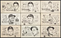 Baseball Cards:Sets, Scarce 1947 Signal Gasoline PCL Near or Partial Sets (4). ...