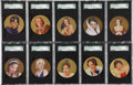 "Non-Sport Cards:Sets, 1939 Rothmans ""Beauties of the Cinema-Round"" Complete Set (24) - #3on the SGC Set Registry. ..."