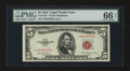 Small Size:Legal Tender Notes, Fr. 1532* $5 1953 Legal Tender Star Note. PMG Gem Uncirculated 66 EPQ.. ...