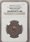 U.S. Presidents & Statesmen, 1909 A. Lincoln Centennial, King-379, MS62 Brown NGC. Copper....