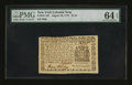 Colonial Notes:New York, New York August 13, 1776 $1/16 PMG Choice Uncirculated 64 EPQ....