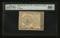 Colonial Notes:Continental Congress Issues, Continental Currency September 26, 1778 $40 PMG Gem Uncirculated 66EPQ....