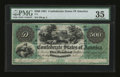 Confederate Notes:1861 Issues, T2 $500 1861 PF-1.. ...