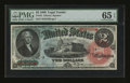 Large Size:Legal Tender Notes, Fr. 42 $2 1869 Legal Tender PMG Gem Uncirculated 65 EPQ....
