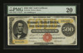 Large Size:Gold Certificates, Fr. 1216a $500 1882 Gold Certificate PMG Very Fine 20....