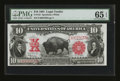 Large Size:Legal Tender Notes, Fr. 122 $10 1901 Legal Tender PMG Gem Uncirculated 65 EPQ....