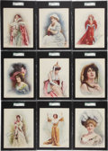 Non-Sport Cards:Sets, 1900 T1 Actresses SGC-Graded Complete Set (25). ...