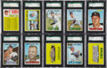 Baseball Cards:Lots, 1967 Topps Baseball SGC 96 Mint 9 Collection (30 Different). ...