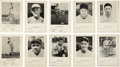 Baseball Cards:Sets, 1946-49 Sports Exchange All-Star Picture File (92) - Complete Series 1A-B through 9. ...