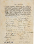 Autographs:Others, 1946 Cuban Professional Baseball Constitution Signed by Forty-Sevenincluding Martin Dihigo....