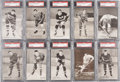 "Hockey Cards:Sets, 1936 ""The Champions"" Postcard Complete Set (10) - #2 on the PSA Set Registry! ..."