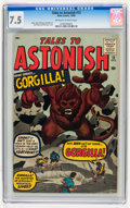 Silver Age (1956-1969):Superhero, Tales to Astonish #12 (Marvel, 1960) CGC VF- 7.5 Off-white to white pages....
