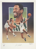 Basketball Collectibles:Others, Bill Russell Signed Lithograph by Christopher Paluso.. 969071010001145. ...