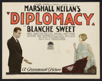 "Diplomacy (Paramount, 1926). Title Lobby Card and Lobby Cards (6) (11"" X 14""). Mystery. ... (Total: 7 Items)"