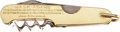 Hockey Collectibles:Others, 1928 Gold Knife Presented to Jack Adams after Lester Patrick Played in the Stanley Cup Finals....