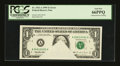 Error Notes:Obstruction Errors, Fr. 1921-A $1 1995 Federal Reserve Note. PCGS Gem New 66PPQ.. ...