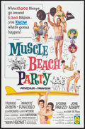 """Movie Posters:Comedy, Muscle Beach Party (American International, 1964). One Sheet (27"""" X41""""). Comedy.. ..."""