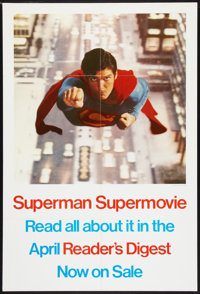 """Superman the Movie (Warner Brothers, 1978). Reader's Digest Poster (27"""" X 40""""). Action"""