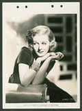 "Movie Posters:Miscellaneous, Joan Bennett (Paramount, 1936). Keybook Photos (4) (8"" X 11"").Miscellaneous.. ... (Total: 4 Items)"