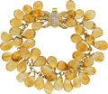 Estate Jewelry:Bracelets, Citrine, Diamond, Gold Bracelet. ...