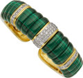 Estate Jewelry:Bracelets, Diamond, Malachite, Gold Bracelet. ...