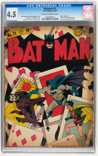 Batman #11 (DC, 1942) CGC VG+ 4.5 Cream to off-white pages