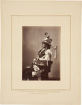 "Photography:Studio Portraits, William Henry Jackson, Photographer: Albumen Print ""Sitting Crow"" Blackfeet Sioux...."