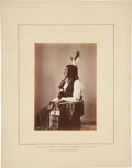 "Photography:Studio Portraits, William Henry Jackson, Photographer: Albumen Print ""Bear Nose"" Cut Head Sioux...."