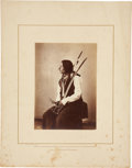"Photography:Studio Portraits, William Henry Jackson, Photographer: Albumen Print ""Black Horn"" Oncpapa Sioux...."