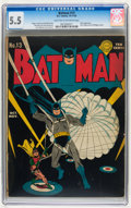 Golden Age (1938-1955):Superhero, Batman #13 (DC, 1942) CGC FN- 5.5 Light tan to off-white pages....