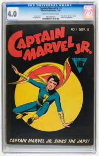 Captain Marvel Jr. #1 (Fawcett, 1942) CGC VG 4.0 Cream to off-white pages