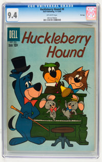 Huckleberry Hound #8 File Copy (Dell, 1960) CGC NM 9.4 Off-white pages