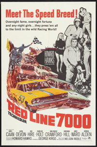 """Red Line 7000 (Paramount, 1965). One Sheet (27"""" X 41""""). Sports"""