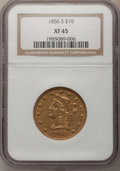 Liberty Eagles: , 1856-S $10 XF45 NGC. NGC Census: (41/164). PCGS Population (23/91).Mintage: 68,000. Numismedia Wsl. Price for problem free...