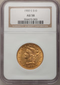 Liberty Eagles: , 1900-S $10 AU58 NGC. NGC Census: (63/58). PCGS Population (41/89).Mintage: 81,000. Numismedia Wsl. Price for problem free ...