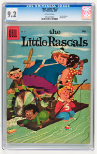Four Color #825 The Little Rascals (Dell, 1957) CGC NM- 9.2 Off-white pages